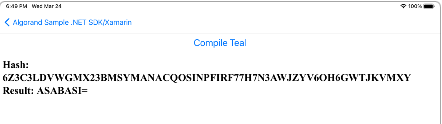 Compile Teal