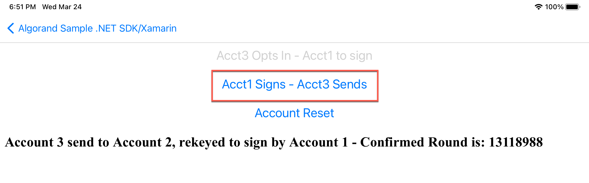 Rekeyed Account Signs
