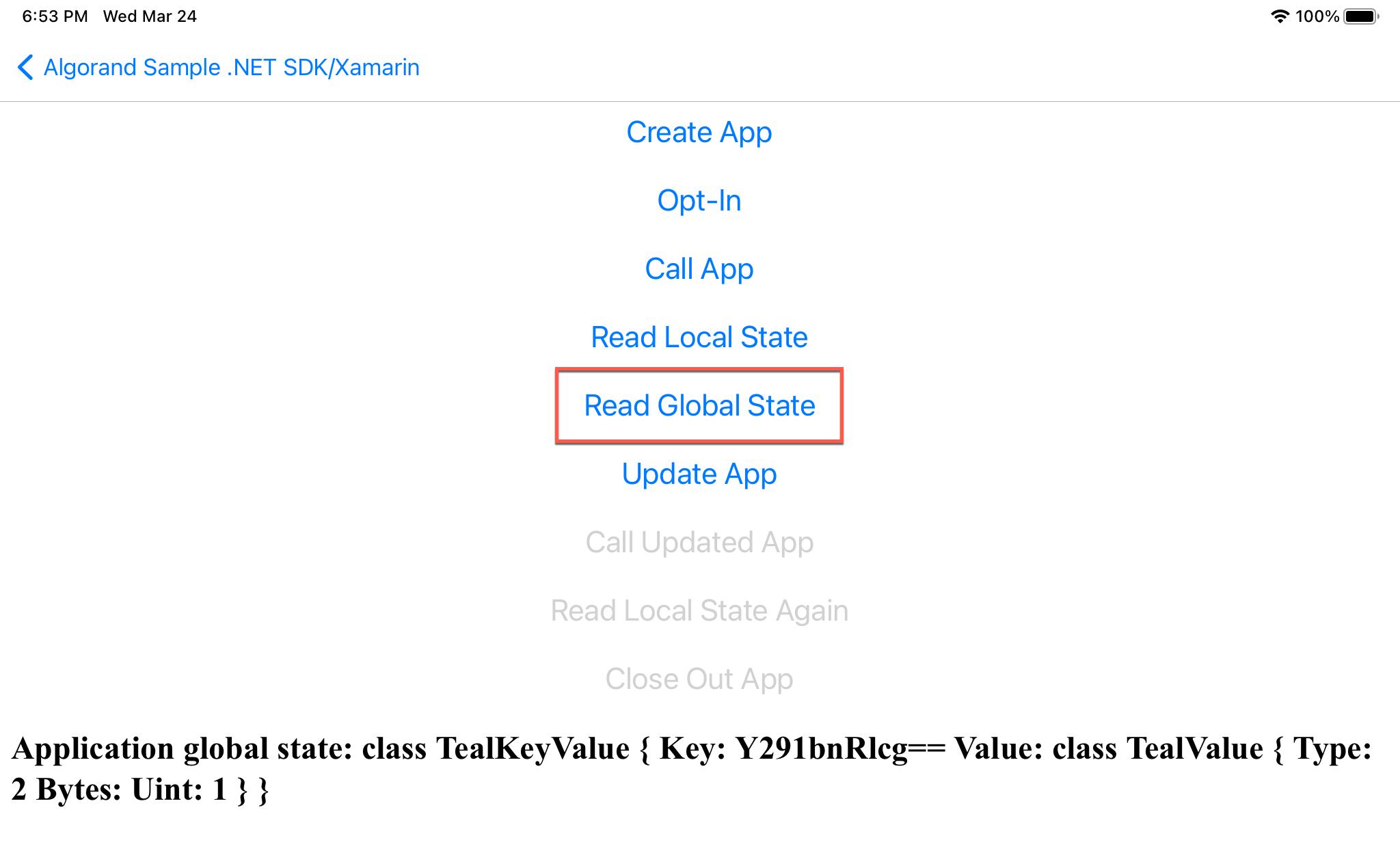 Read Global State