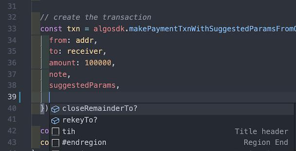 TypeScript Autocomplete Preview
